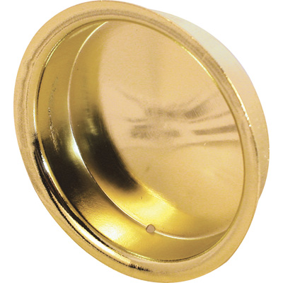 Picture of N 6698 - 2 inch inset sliding  closet door pull handle, Brass plated, 2 per pkg.