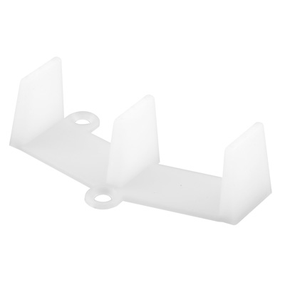 Picture of N 6767 - Sliding Closet Door Floor  Guide, 1-3/8 inch Doors, 1-1/8 inches Tall, 2 per package