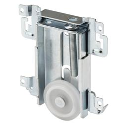 Picture of N 6790 - Acme Mirrored Door Roller Assembly, 1-7/16 inch Flat Nylon Roller, 1 per package.