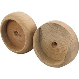 "Picture of N 6794 - Closet pole sockets for 1-3/8"" wood poles"