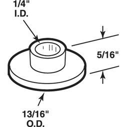 Picture of N 7038 - Bi-Fold Door Nylon Pivot Caps, Fits 1/4 inch rod, Stanley, 25 Pack