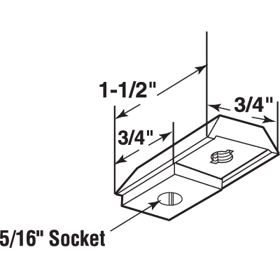 Picture of N 6843 - Bi-Fold Door Top or Bottom Pivot Bracket, National, Adjustable, 1 per package