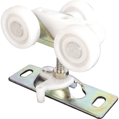 Picture of N 6848 - Top Center Mounted Tricycle Style Roller, 1 inch Flat Roller, 2 per pkg.