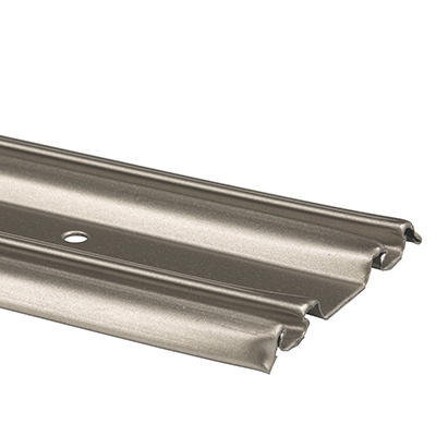 Picture of N 6877 - Mirrored Door Bottom Track, Roll-Formed Steel, Satin Nickel, 72 inches, Pack of 1