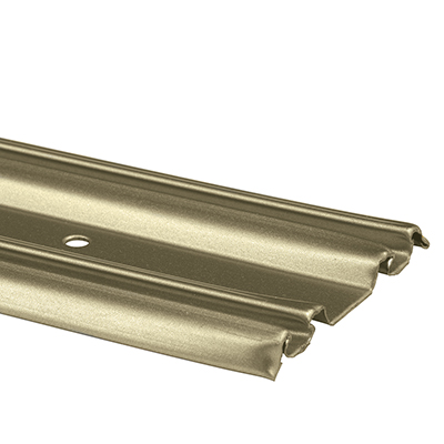 Picture of N 6879 - Mirrored Door Bottom Track, Roll-Formed Steel, Champagne Gold, 48 inches, Pack of 1