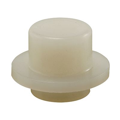 Picture of N 6906 - Bi-Fold Door Guide or  Pivot Cap, Nylon, Fits 1/4 inch Rod Tip, 4 per package
