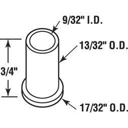 Picture of N 7055 - BI-FOLD DOOR GUIDE CAP, NYLON, 25/PKG