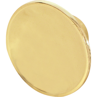 Picture of N 6930 - Bi-Fold Door Pull Knob, 1-9/16 inches diameter, Diecast, Brass Plated, 2 per package