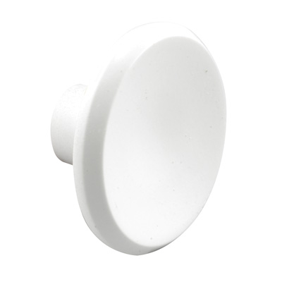 Picture of N 6966 - Bi-Fold Door Pull Knob, 1-1/2 inches diameter, Diecast, White, 2 per package