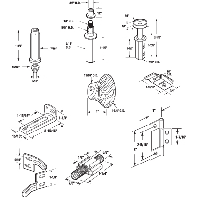 Picture of N 6996 - Bi-fold 4-Door Hardware Kit