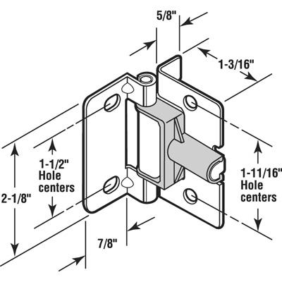 Picture of N 7008 - BI-FOLD DOOR HINGE, SHOCK ABSORBING