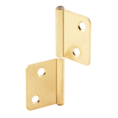 Picture of N 7025 - Bi-Fold Door Hinges, Non- Mortise Style, Brass Plated, Set of 2 per package