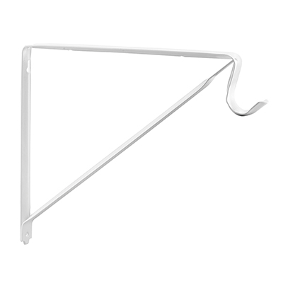 Picture of N 7048 - Closet Shelf Support Bracket, 10-3/4 inches, Steel, Off-White, Heavy Duty, 1 Pack