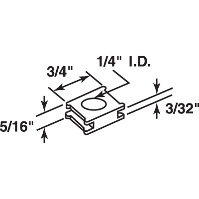Picture of N 7060 - Bi-Fold Door Guide Square Cap, Nylon, Fits 1/4 inch Rod, 4 per package