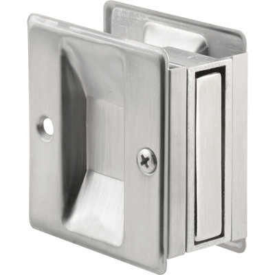 Picture of N 7079 - Pocket Door Pull, 2-3/4 inch tall, Satin Chrome, 1 pack