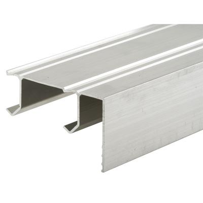 N 7084 Sliding Closet Door Track Extruded Aluminum With Fascia