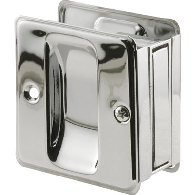 Picture of N 7085 - Pocket Door Pull, Fits up to 1-3/4 inch thick door, Chrome, 1 Pack