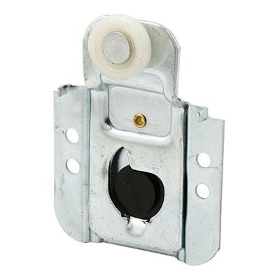 Picture of N 7091 - Closet Door Roller, 3/4  inch Flat Roller, 3/16 inch Offset, Screw Adjust, Pack of 2