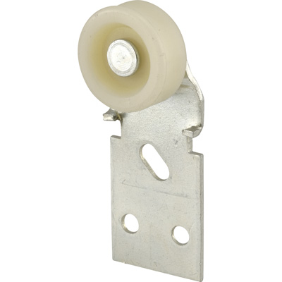 Picture of N 7108 - Closet Door Roller, 1/2 inch by 1-3/16 inch Flat Nylon Roller, Front Mount, 2 Pack