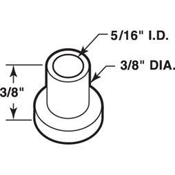 Picture of N 7159 - Bi-Fold Door Pivot Cap, Nylon, 25 piece bag.