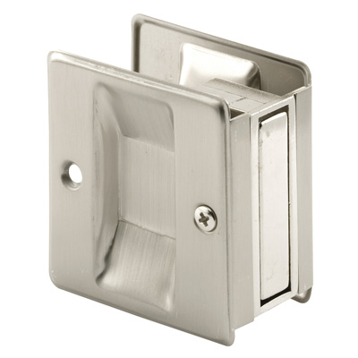 Picture of N 7238 - Pocket Door Pull, 2-3/4 inches tall, Satin Nickel, 1 Pack