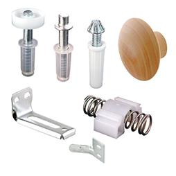 Picture of N 7283 - Bi-Fold Door Repair Kit, Pivots, Brackets, Guide, Knob and Snugger, 1 set per package