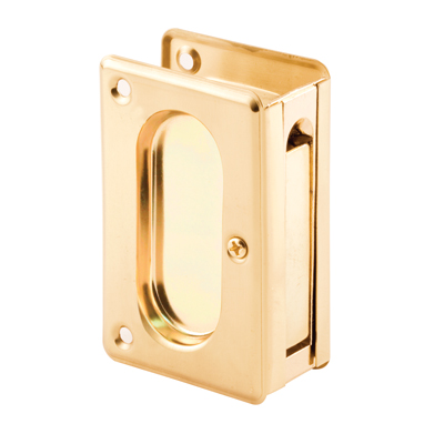 Picture of N 7361 - Pocket Door Pull, 3-3/4 inches tall, Polished Brass, 1 Pack