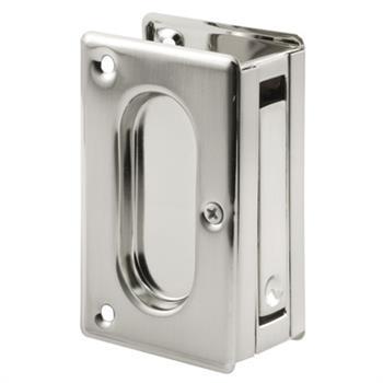 N 7363 Pocket Door Pull 3 3 4 Inches Tall Satin Nickel