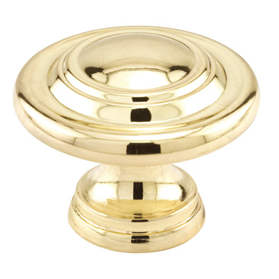 Picture of N 7369 - Bi-Fold Door Pull Knob, 1-11/16 inches Diameter, Diecast, Polished Brass, 1 Pack