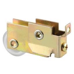Picture of N 7455 - Mirrored Door Roller, 1 inch Diameter, 1/8 inch Roller Edge, Steel Housing, 1 Pack