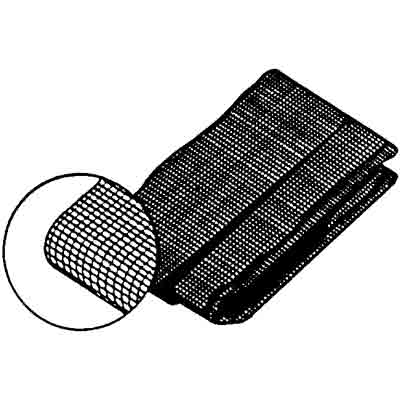 Picture of P 7540 - Screen Door Repair Cloth, Charcoal Fiberglass, with spline and tool. 10 kits per box.