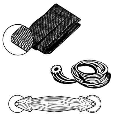 Picture of P 8071 - Screen Door Repair Kit, Charcoal Fiberglass, with spline and tool. 30 kits per box.