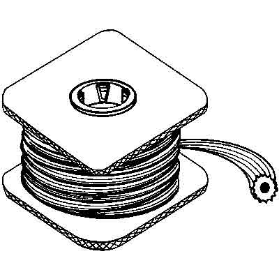 "Picture of P 7586 - Screen Retainer Vinyl Spline, .190"" Round, Black, 100' per roll."