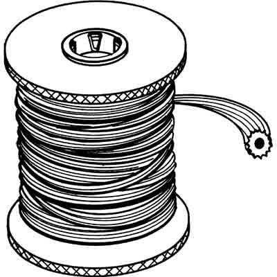 "Picture of P 7585 - Screen Retainer Vinyl Spline, .180"" Round, Black, 1200' per roll."
