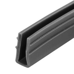 "Picture of P 7738 - Glass Retaining Spline, Glazing ""U"" Channel, Gray Vinyl, 200' per roll."
