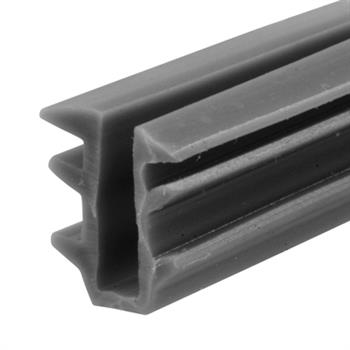 "Picture of P 7741 - Glass Retaining Spline, Glazing ""U"" Channel, Gray Vinyl, 200' per roll."