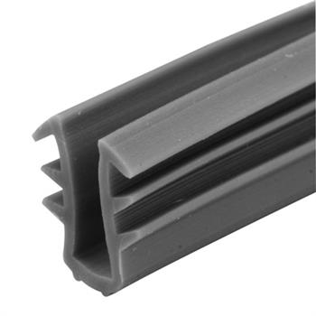 "Picture of P 7757 - Glass Retaining Spline, Glazing ""U"" Channel, Gray Vinyl, 1000' per roll."