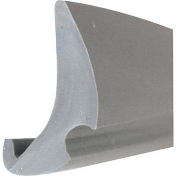 "Picture of P 7778 - Glazing Spline, Flexible Vinyl Push-in Bead, .190"" x .470"", Gray, 1000' per roll."