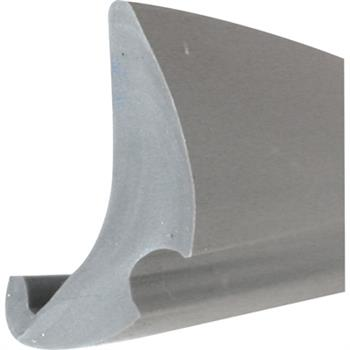 "Picture of P 7776 - Glazing Spline, Flexible Vinyl Push-in Bead, .190"" x .470"", Gray, 100' per roll."