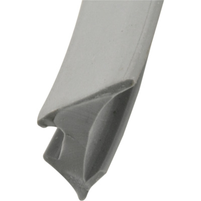 "Picture of P 7792 - Glazing Spline, Flexible Vinyl Push-in Bead, .230"" x .395"", Gray, 200' per roll."