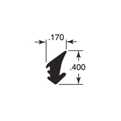 "Picture of P 7800 - Glazing Spline, Flexible Vinyl Push-in Bead, .170"" x .400"", Gray, 100' per roll."