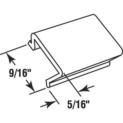 """Picture of P 7813 - Glass Retainer, Rigid Vinyl Snap-in Glazing Bead, Black, 72"""". 25 per Carton"""