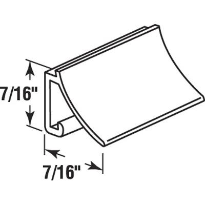 """Picture of P 7815 - Glass Retainer, Rigid Vinyl Snap-in Glazing Bead, Black, 72"""". 25 per Carton"""