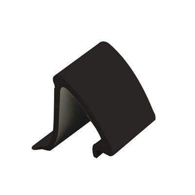 """Picture of P 7852 - Glass Retainer, Rigid Vinyl Snap-in Glazing Bead, Black, 72"""". 25 per Carton"""