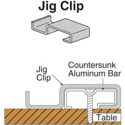 "Picture of P 7932 - Jig Clips, 3"", Aluminum, Anodized, For 3/4"" Frame"