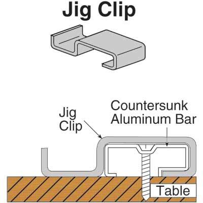 Picture of P 7933 - 1 inch Screen Table Jig Clips, 4 per pkg.