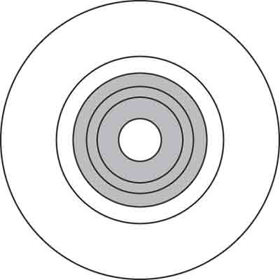 Picture of P 7993 - Replacement Wheel for Screen Rolling Tool, Nylon, 1 per pkg.