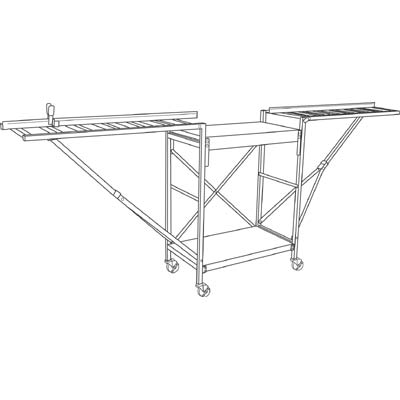 Picture of P 8077 - Portable Chop-Saw Table Kit, 1 per carton, partially assembled
