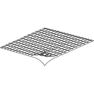 "Picture of P 8095 - ""Stick-on"" Fiberglass Screen Repair Kit. 3"" x 3"", Gray, 5 per card."