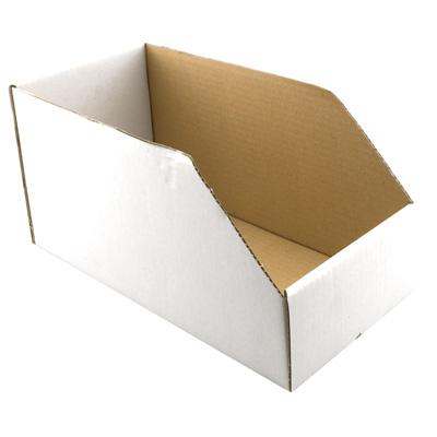 "Picture of P 8143 - Parts Bin Box, 4-1/2""W x 6""H x 12""Deep, Cardboard, White"